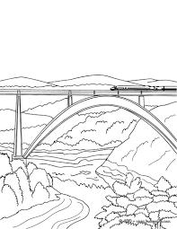 Coloriages Train Sur Le Pont Colorier Fr Hellokids Com
