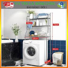 AI RẺ HƠN SHOP HOÀN TIỀN ] Kệ Máy Giặt , Kệ Bồn Cầu 2 Tầng Inox Cửa Ngang ,  Cửa Đứng Siêu Tiện Lợi BAM86 giá cạnh tranh