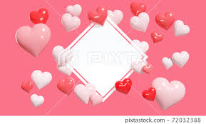 frame image surrounded by many hearts