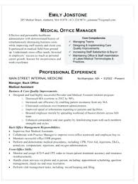 Office Staff Sample Resume Medical Office Manager Resume Medical