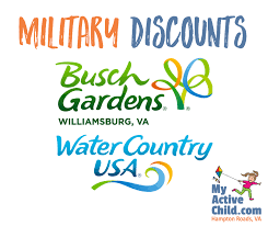 military s for busch gardens williamsburg and water country usa