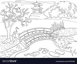 nature coloring book. Modren Book Nature Of Japan Coloring Book For Children Cartoon Vector Image In Coloring Book O