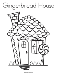 Small Picture Gingerbread House Coloring Page Twisty Noodle
