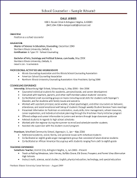 Sample Resume For School Counselor School Counselor Resume New Counseling Resume Sample Resume Ideas