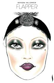 need a look get inspiration from the flapper face chart created by our roaring 20s makeup1920s 1920s flapper makeup