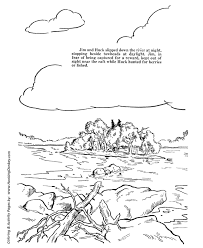 Stylish Inspiration Stream Coloring Page Huckleberry Finn Pages 7