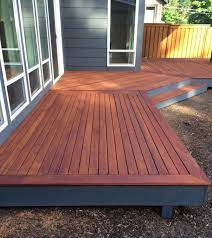 deck sealer and a deck stain