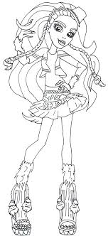 Marisol Coxi Monster High Coloring Pages