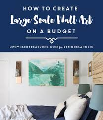 Diy Wall Art Remodelaholic Inexpensive Diy Large Scale Wall Art