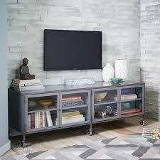 industrial media furniture. Industrial Metal Media Console - Large   West Elm Furniture M