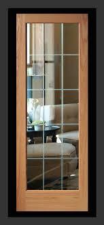 oak interior glass doors