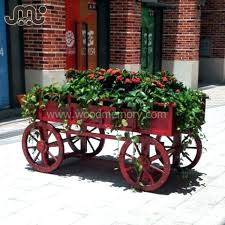 wooden flower cart supplieranufacturers at decorative garden wagon carts wagons wheel outdoor designs small garden wagon