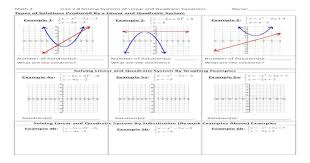 Answered questions all questions unanswered questions. Math 2 Linear And Quadratic Systems Of Equations Worksheet Answers Tessshebaylo