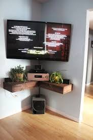 Corner Tv Wall Mounts With Shelves Custom TV Wall Mount Style Ideas To Combine With Your Attractive And