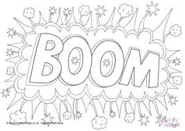 colouring in picture.  Picture Boom Colouring Page And In Picture B
