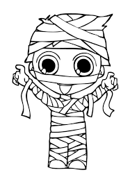Small Picture Mummy Costume Halloween Coloring Pages Coloring Activity Pages