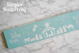 Diy Wooden Nativity Silhouette With Free Cricut Cut File Simple Made Pretty