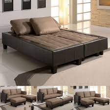 convertible beds furniture. Couch Bed Fulton Tan Microfiber Convertible Sofa Sleeper 2 Ottoman Sectional Set ZGWHNSR Beds Furniture F