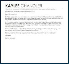 Preschool Teacher Cover Letter 3921