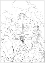 Avengers endgame spiderman coloring pages printable. Marvel Coloring Pages For Adults
