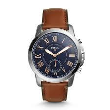 Hybrid Smartwatch - Q Grant Light Brown Leather
