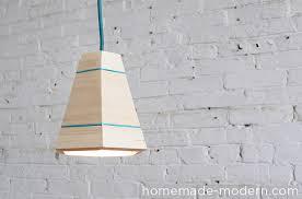 diy pendant lighting. Picture Of HomeMade Modern DIY Wood Pendant Lamp Diy Lighting