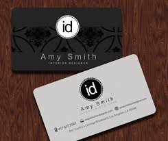 Business Card Examples For Interior Designers Interior Designer Business Cards With A Clean And Simple