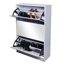 mirrored shoe cabinet rack wooden black color shoe rack storage sliding