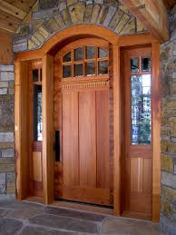 Craftsman Front Doors For Homes Custom Contemporary Craftsman - Custom wood exterior doors