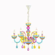 Jilan Home Kronleuchter Bunte Kristall Beleuchtung