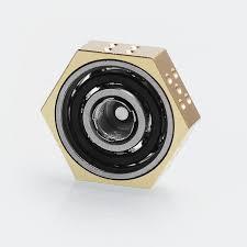 608 bearing. authentic iwodevape 510 vape spinner fidget toy for e-cigarette - gold, stainless steel 608 bearing