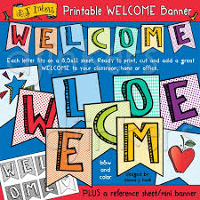 Sample Welcome Banner Printable Welcome Banner For Your Classroom Home Or Office By Dj