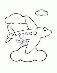 Small Picture Airplane in the Sky coloring page for toddlers transportation