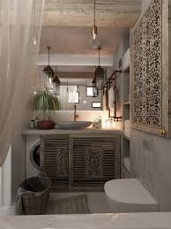 Home Designs: Wood Slat Bathroom Design - Apartment Design For Women