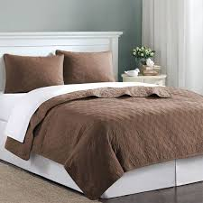 chocolate brown velvet touch twin xl coverlet quilt bedding set complete with sheets free