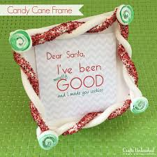 candy cane inspired diy frame