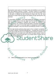 Example Of Career Aspiration Career Aspirations And Reflection On Skills Development Essay