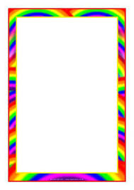 Rainbow Page Border Rainbow Themed A4 Page Borders Sb7475 Sparklebox
