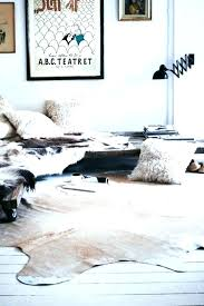 hide faux cow skin rug fake animal rugs with head
