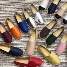 women designer shoes leather espadrilles flat shoes two tone cap toe classic loafers real lambskin summer trainers multicolor size 34 42 italian shoes cute