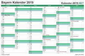 Kalender bayern 2021/2022 download als pdf oder png. Kalender 2019 Zum Ausdrucken Kostenlos