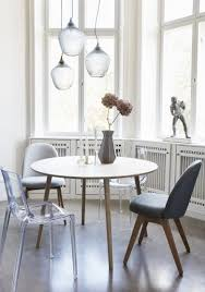 dining table with fabric chairs