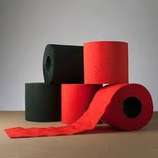 gold flake toilet paper. renova tissue // black + red set of 12 rolls gold flake toilet paper