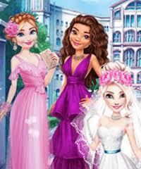elsa heavenly wedding dress up game