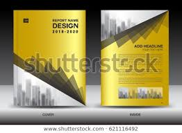 Company Report Template Inspiration Business Brochure Flyer Templater Gold Cover Stock Vector Royalty
