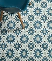 blue patterned tiles floor tile