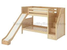 cool kids beds with slide. Wooden Loft Bed With Slide Stellar Medium Bunk And Staircase Cool Kids Beds Q