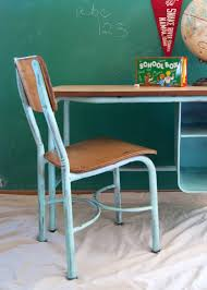 office chair makeover. Aqua School Desk, Globe, Pennant, Office Chair Makeover R