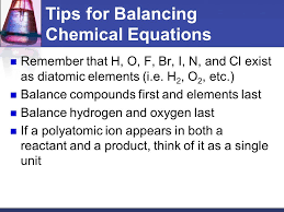 tips for balancing chemical equations talkchannels