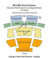 The Venetian Theatre Las Vegas Seating Chart Blue Man Group Theatre Venetian Hotel Casino Tickets And